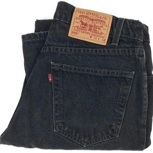 Vintage Levi's 505 RED TAB Black Denim Jeans 31x34